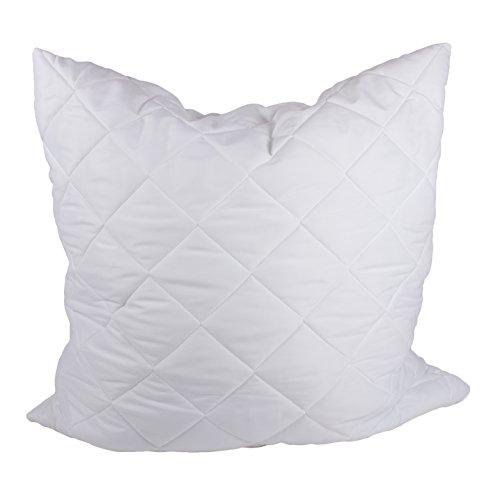 sabeatex Orthofill Kopfkissen 80x80cm für Stauballergiker, Waschbar bis 95° Hautsympathisch sehr angenehmes Schlafklima extra weich und formstabil, Größe 80x80cm