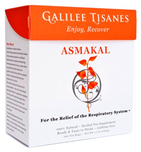 GALILEE TISANES,ASMAKAL - Asthma and Allergies Management Herbal Tea Remedy,100 tea bags
