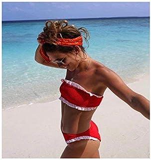 ZHRUI Il Nuovo Reggiseno Agaric Split Bikini, M, Gules (Colore : -, Dimensione : -)