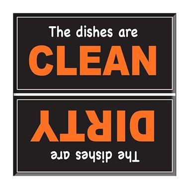 Clean Dirty lavavajillas imán Indicador de señal - Naranja ...