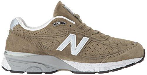 New Balance Men's 990v4 Running Shoe, Covert Green/White, 7 D US by New Balance (Image #6)