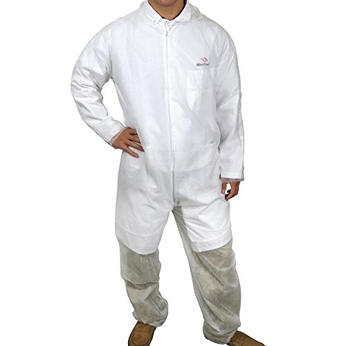 UltraSource Disposable Polypropylene Coveralls, X-Large (Pack of 25)