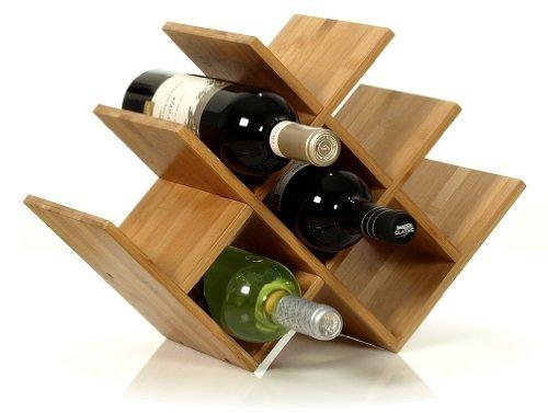 W Shape 8 Bottle Tabletop Wooden Wine Rack (Improved Oct. 2014)