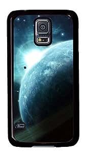 Diy Fashion Case for Samsung Galaxy S5,Black Plastic Case Shell for Samsung Galaxy S5 i9600 with Asteroids