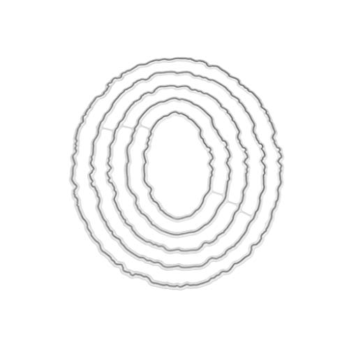 Cicitop Cutting Dies Oval Frame Metal Cutting Dies Stencil DIY Scrapbooking Album Stamp Paper Card Embossing Craft Decor