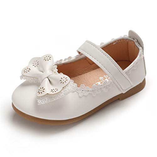 Toddler Little Girls Dress Shoes Ballet Sparkle Wedding Party Mary Jane Princess Flats Shoes(8.5 M US - Dress Shoes Leather Mary Jane