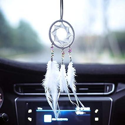 Drcor Small White Dream Catcher Car Accessories Interior For Women