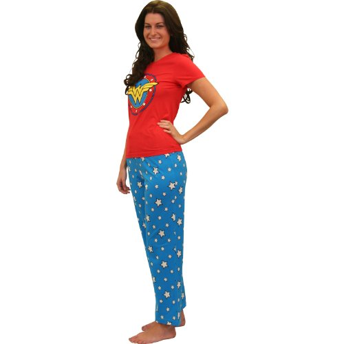 Wonder Woman Cami Set - Wonder Woman Superhero Pajama Set for Women - Small
