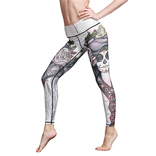 IBOWO Women's Yoga Pants Leggings colorful Gym Capris Hip Hop Tights Workout (Printed) (Tights Colorful Running)