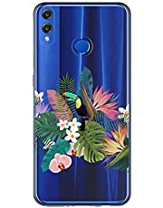 Oihxse Case Transparente Suave TPU Compatible con Huawei Mate 20 Pro Funda [Lindo Caricatura Flor Serie Dibujos] Cristal Protector Carcasa Anti Rasguños Bumper Cover-Loro
