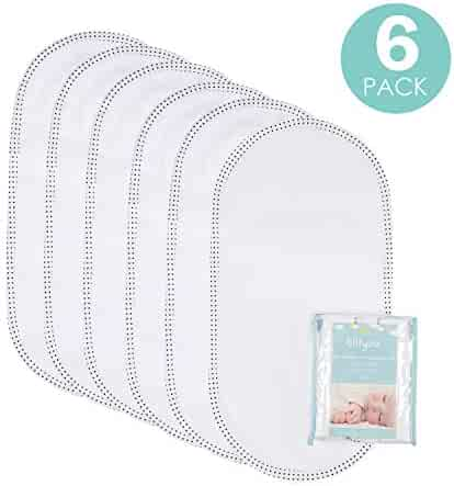 TILLYOU Larger Softer Changing Pad Liners Waterproof, Washable Reusable Changing Table Cover Liners Double Layers, 100% Cotton Flannel Surface, 27