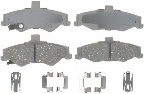 ACDelco 14D750CH Advantage Ceramic Rear Disc Brake Pad Set with Hardware