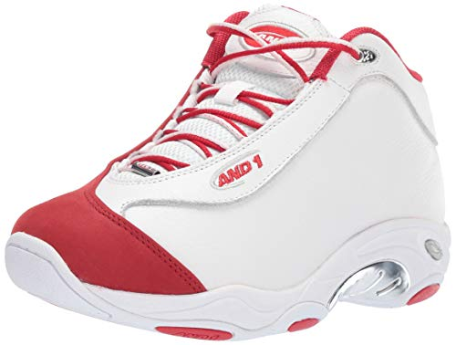 AND 1 Men's Tai Chi LX Sneaker, White/Chinese red/Silver, 13 Medium -