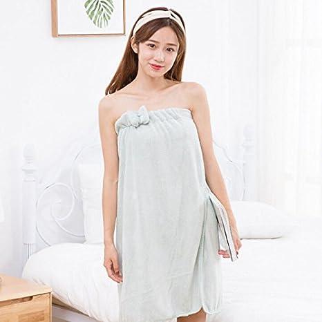 keebgyy Bath Towel, Soft Super Absorbent Thickening Coral Velvet Bath Skirt Wrap Strapless Bathing Bathrobe for Women Ladies Soft Spa Towel