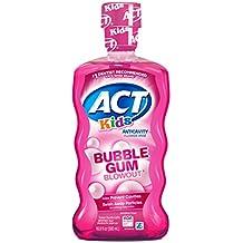 ACT Kids Anti-Cavity Fluoride Rinse, Bubblegum Blowout 16.9 oz