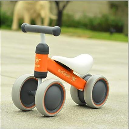 MYMAO 01Bebé Equilibrio Bicicleta, Mini Bicicleta niño Walker Juguete niño Bicicleta sin Pedal Interior al Aire Libre conducción Aprendizaje Juguete 1-3 año Viejo niño y niña,1003orange