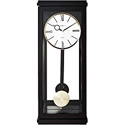 Howard Miller Alvarez Wall Clock 625-440 - Black Satin with Quartz, Triple-Chime Movement