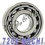 7204 Nachi Angular Contact Bearing 20x47x14 Steel Cage C3 Japan Ball