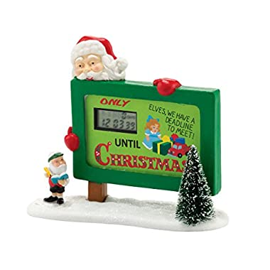 Department 56 North Pole Series Village Countdown to Christmas Accessory, 4.5-Inch
