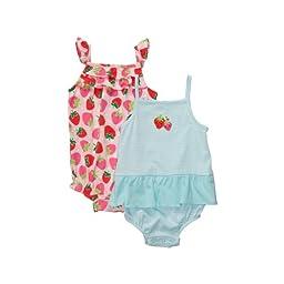 Carter\'s Infant 2-Pack Sunsuit - Aqua-NB