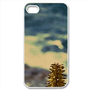 Shore Flowers Watercolor style Cover iPhone 4 and 4S Case (Summer Watercolor style Cover iPhone 4 and 4S Case)