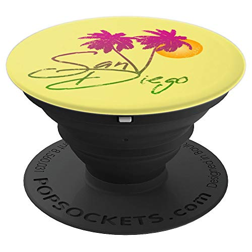 Perfect San Diego California Lover Palm Trees Gift - PopSockets Grip and Stand for Phones and Tablets