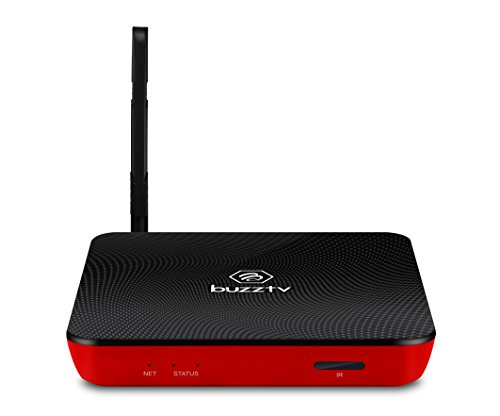 Buzz Box (BuzzTV XPL3000 Sports edition (Sporty Red carbon Fiber) Android based IPTV Set-top-Box and Streaming Media Player ( USA seller))