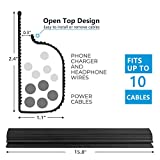 """J Channel Cable Raceway with 5M Adhesive - Computer Desk Cable Management System – Desk Cable Hider – 95"""" Desk Cord Organizer - Under Table Cord Cover Management for"""