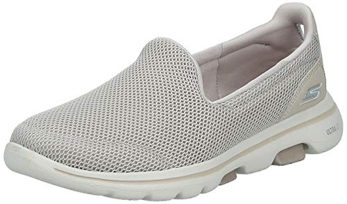 Skechers Women's GO Walk 5-15901 Sneaker, Taupe, 8.5 M US