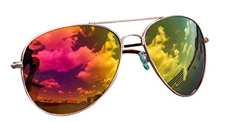 piegelt nbsp;colores rosa 12 Aviador Gafas De Pilot porno Sol naranja gafas y Gafas Gafas VERS xP7AwwEqT