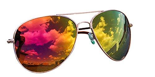piegelt naranja Pilot 12 De Sol nbsp;colores VERS porno Gafas gafas Aviador y rosa Gafas Gafas qqETf6w