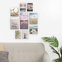 Kit 9 Quadros Decorativos Praia Mar Good Vibes Only