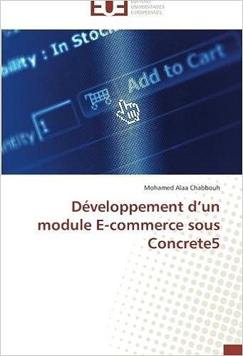 Développement d'un module E-commerce sous Concrete5 (Omn.Univ ...