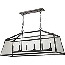 Elk Lighting 31509/6 Alanna - Six Light Pendant, Oil Rubbed Bronze Finish with Clear Glass