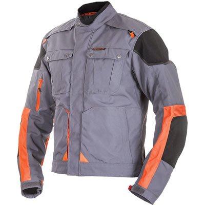 Motorfist Ranger Foul Weather Jacket - LARGE - Grey/Orange