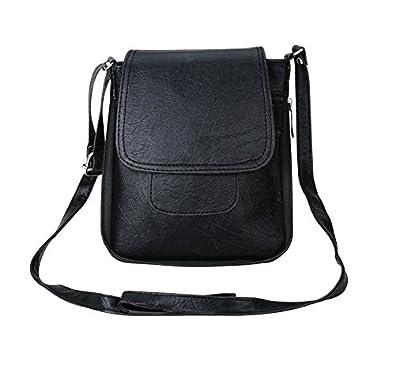 e17c8949d91b Crude Black plain Sling Bag-rg1055 for Women s   Girl s  Amazon.in  Shoes    Handbags