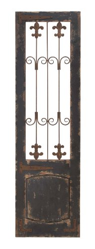 (Deco 79 52726 Rustic Deep Espresso Wood and Metal Floret Wall Decor, 57