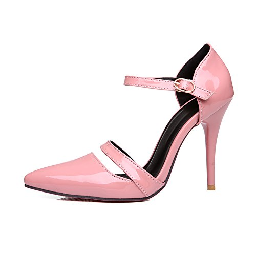 Charm Foot Womens High Heel Stiletto Mary Jane Pumps Dress Shoes Pink 1BfTGJUv