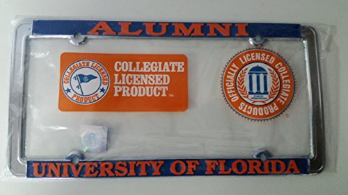 New - Florida Gators Alumni Metal License Plate Frame Thin - Auto Car Truck Chrome