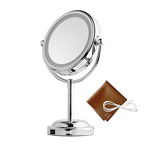 Light Up Mirror - 6in LED Makeup Mirror With Battery /USB Po