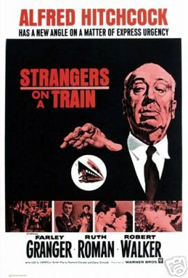 Image result for strangers on a train movie poster