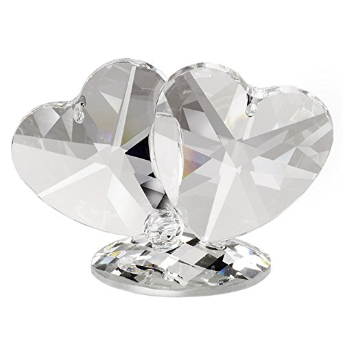 Figurine Heart (Carlucci Italian Crystal Double Hearts Figurine)
