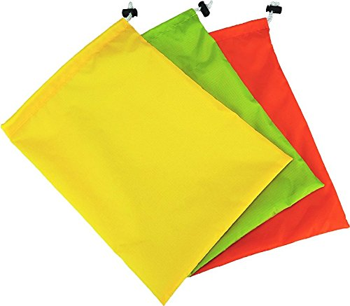 JR Gear Ditty Storage Bags, Lime/Orange/Yellow (3-Pack)