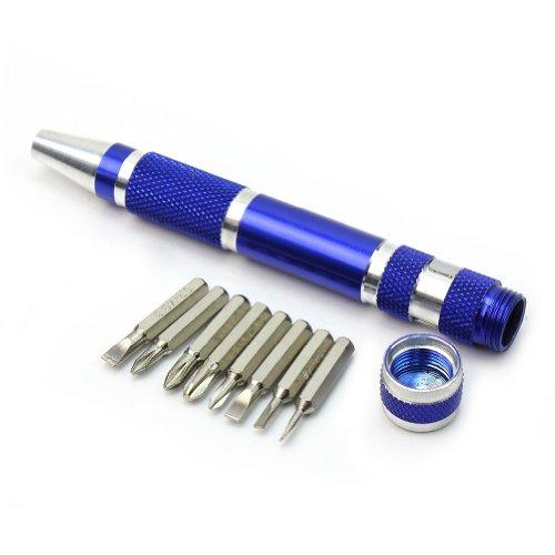 Pinzhi – Kit 8 en 1 Destornillador de Precisión Forma de Boligrafo Herramienta Bricolaje