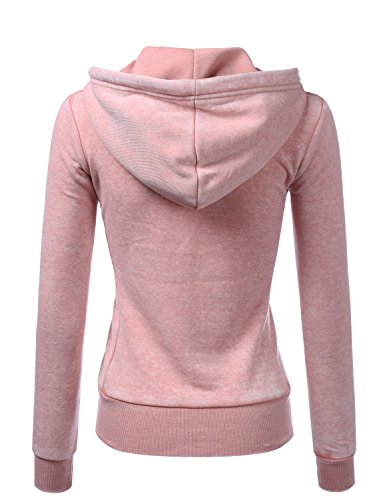 Doublju Lightweight Thin Zip-up Hoodie Jacket for Women with Plus Size MAUVEPINK X-Large by Doublju (Image #2)