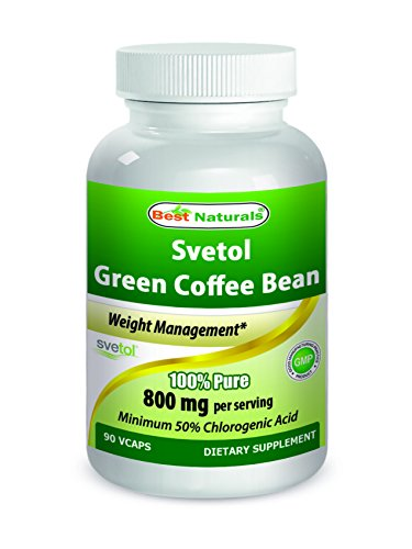 SVETOL® Green Coffee Bean Extract, 400mg, 90 Vegetarian Capsules (400 mg Svetol® per Capsule - The Svetol® Standard Extract Proven in 8 Research Studies) by Best Naturals