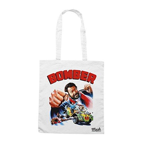 Borsa Bomber Bud Spencer - Bianca - Film by Mush Dress Your Style