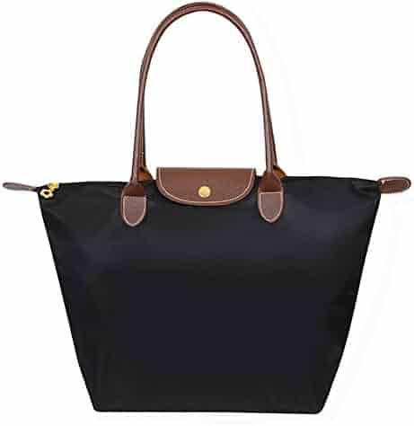 BEKILOLE Women's Stylish Waterproof Tote Bag Nylon Travel Shoulder Beach Bags