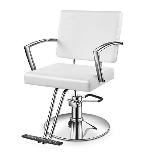 Baasha Salon Chair White With Hydraulic Pump, Beauty Hydraulic Styling Chair, Salon Hair Chair For Stlyist, Salon Stylist Chair, White Salon Chairs for Hair Stylist