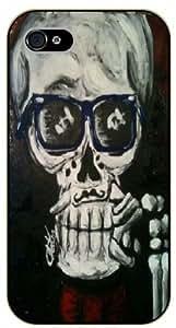 iPhone 5 / 5s Glasses skull - black plastic case / hipster, tribal